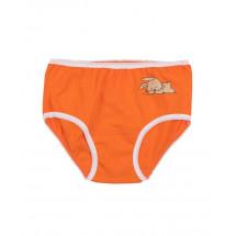"""Трусы для девочек оранжевого цвета """"Зайчики"""""""