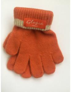 Перчатки зимние морковного цвета Glopia