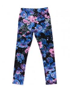 Лосины для девочек синие розы